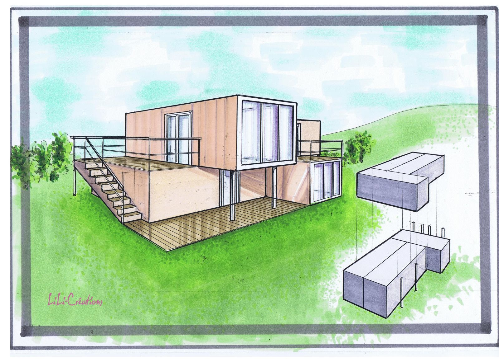 maison conteneur recherche google maison conteneur. Black Bedroom Furniture Sets. Home Design Ideas