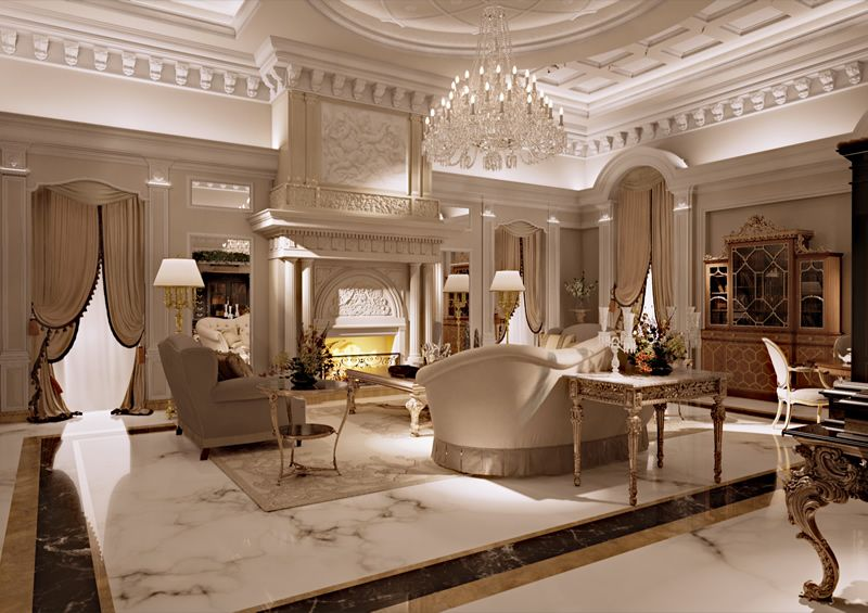 Interior design rendering of furniture and interiors for Architettura d interni on line