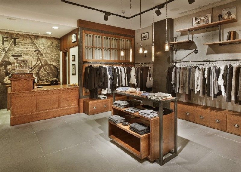 Vintage Industrial Charm Defines New Fashion Clothing Store in ...