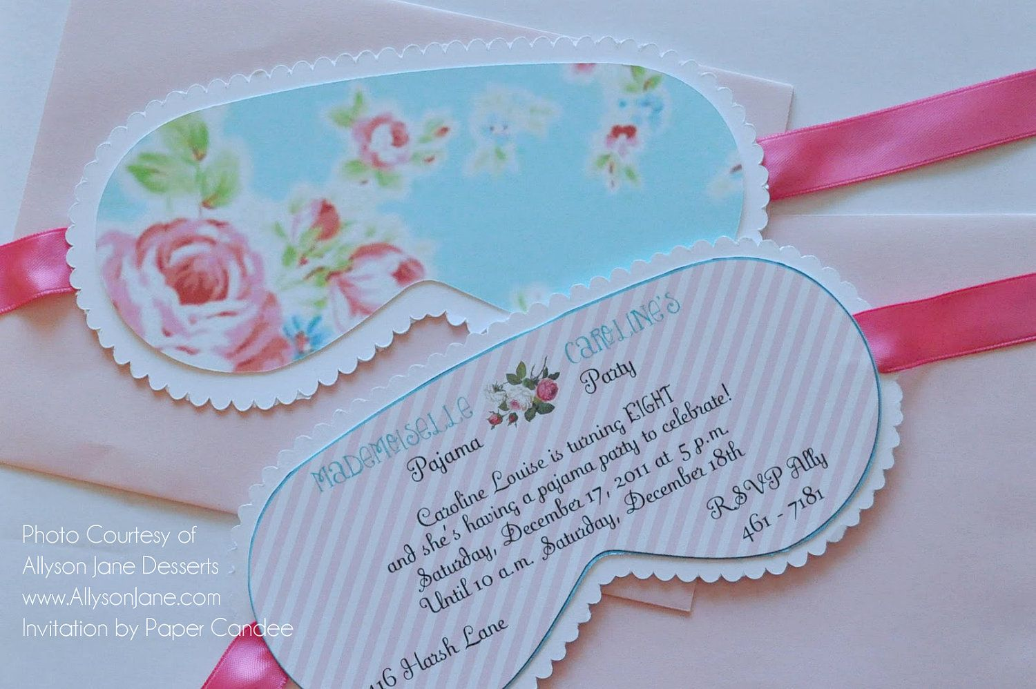 shabby chic sleep over party collection