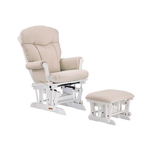 Astonishing Shermag Glider Rocker And Ottoman Combo White Pearl Short Links Chair Design For Home Short Linksinfo