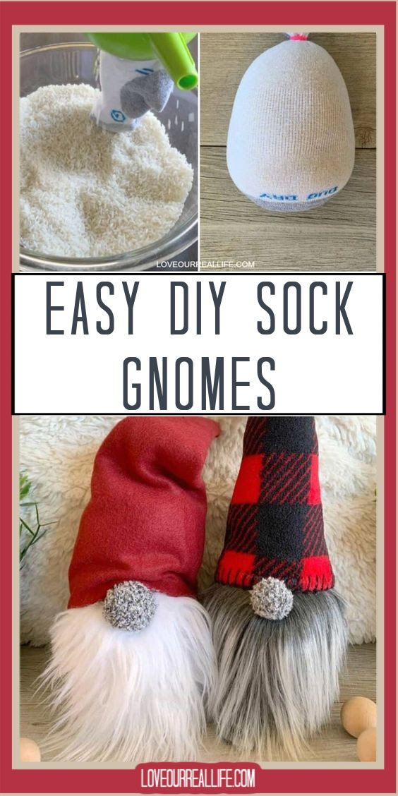How to Make Christmas Gnomes: Sew and No Sew (Sock) Instructions