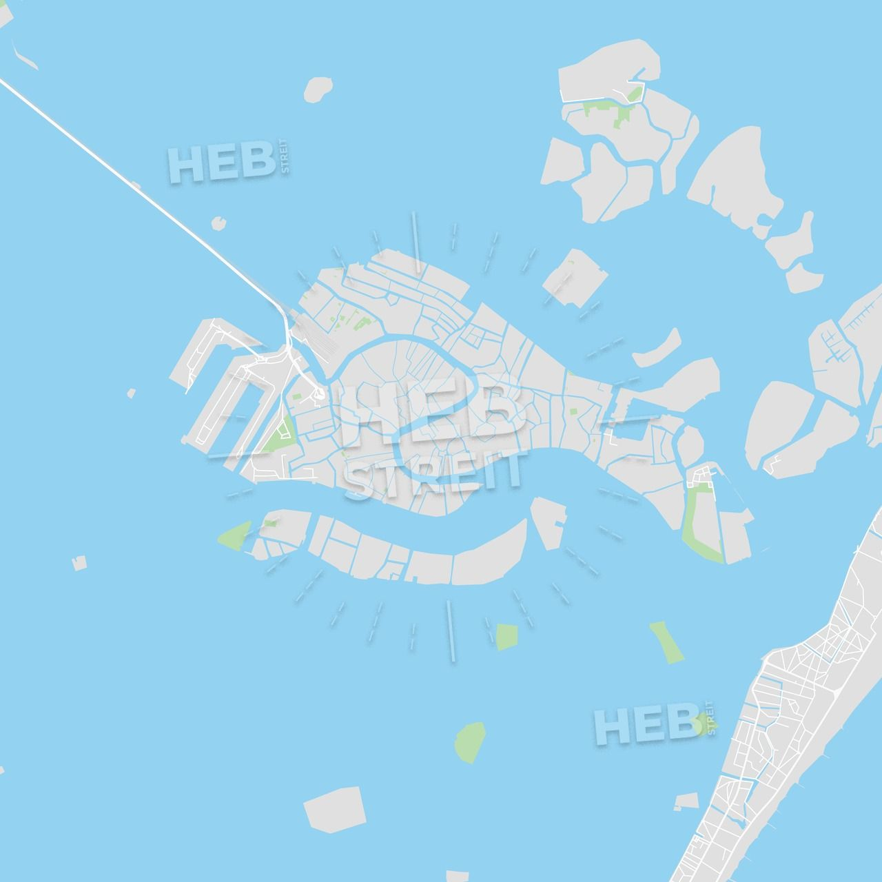 Printable Map Of Venice Italy Streit