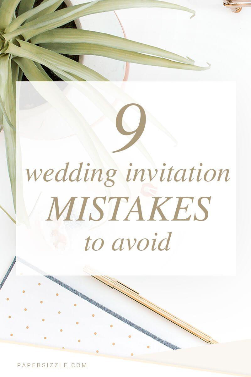 9 Wedding Invitation Mistakes to Avoid | Invites wedding, Weddings ...