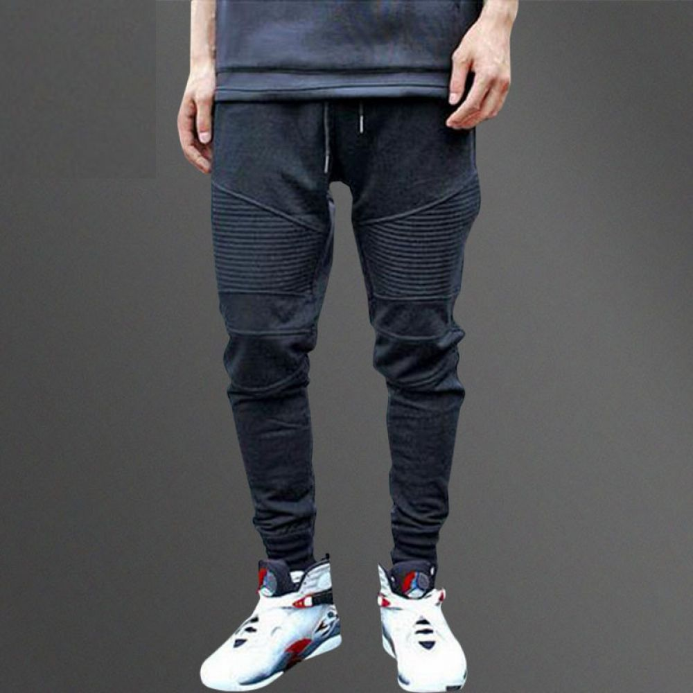 MOUTEN Mens Cotton Casual Drawstring Cargo Pants Jogging Pants Trousers with Pockets
