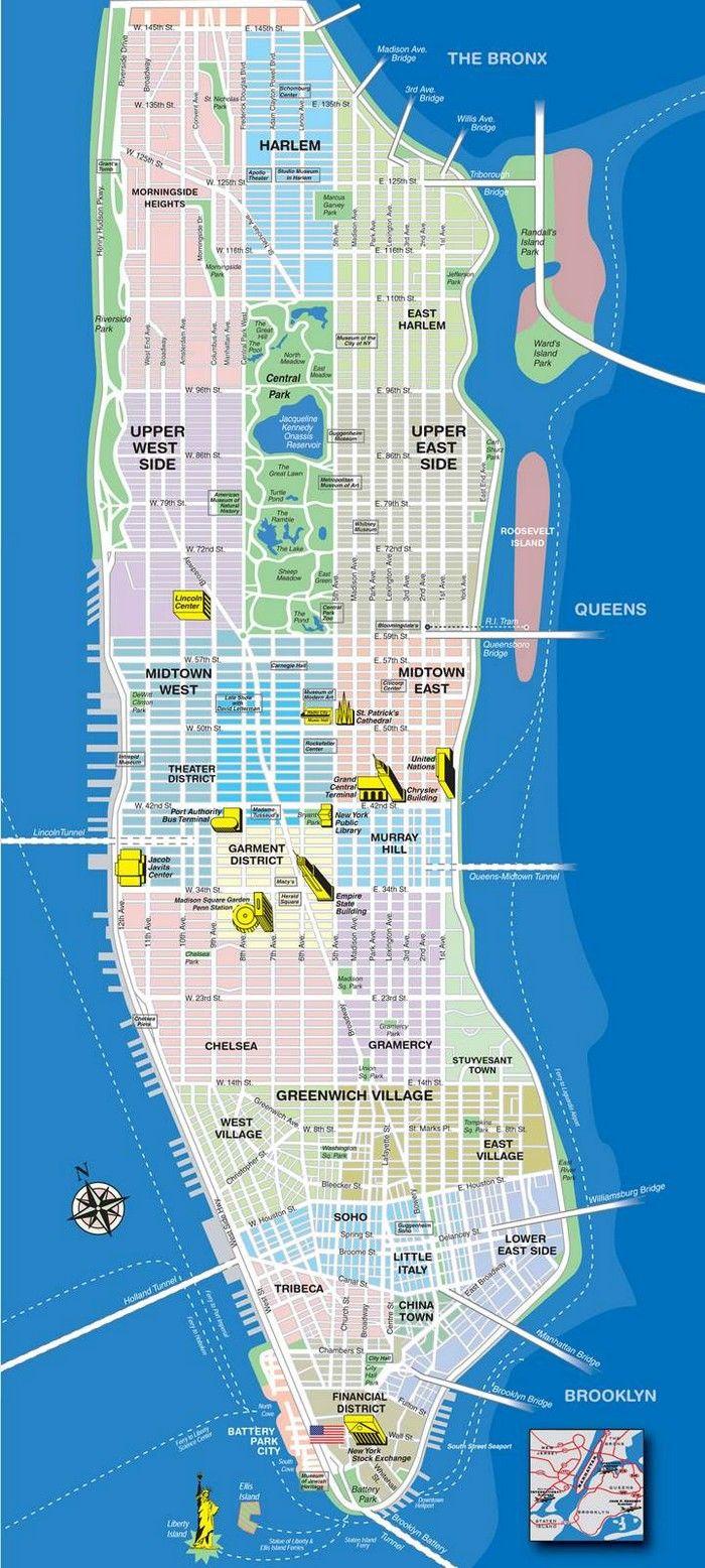 What You Don T See New York Manhattan New York Carte De Manhattan Carte Touristique