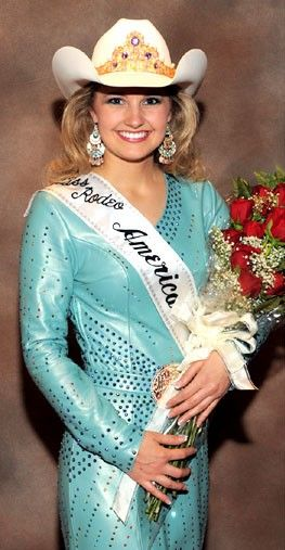 Amy Wilson, Miss Rodeo America, 2008, and Miss Rodeo Kansas, 2007.