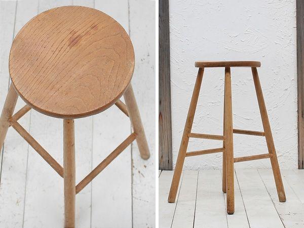 イギリス英国アンティーク背の高いスツール椅子家具8854 Antique chair ¥13500yen 〆04月09日