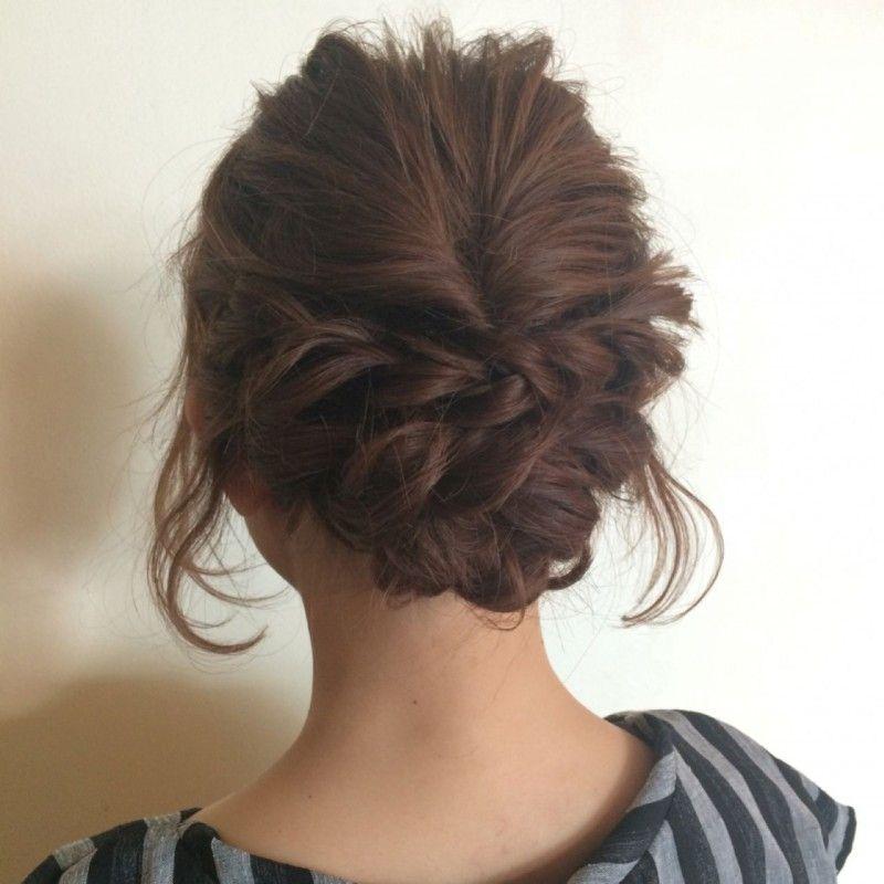 結婚式お呼ばれ髪型ミディアム50選|ハーフアップ、編み込みetc