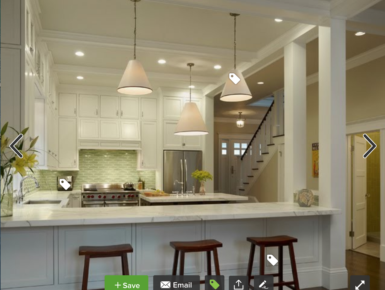 Kitchen Peninsula Idea With Support