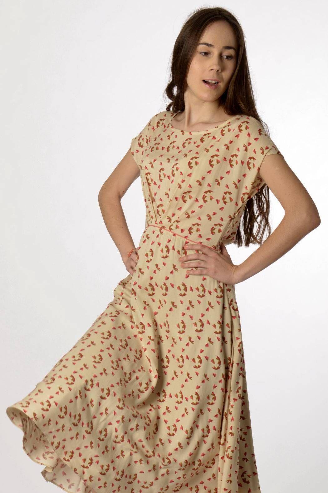 Madeva paris dress vivienne cream prints madeva springsummer