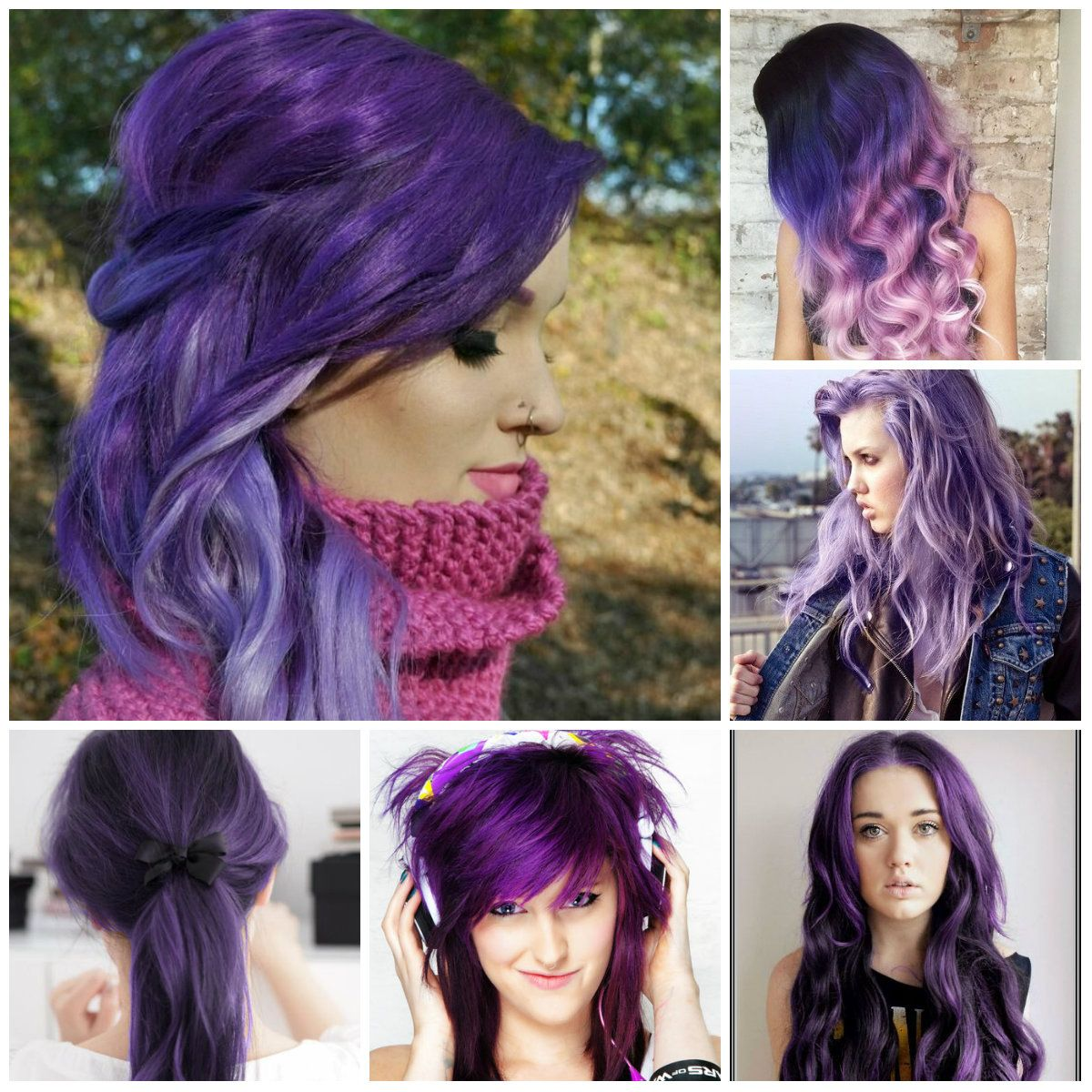 Hairstyles 2016 dark hair - 2016 Purple Hair Color Ideas Haircuts Hairstyles 2016 And Hair Colors For Short Long
