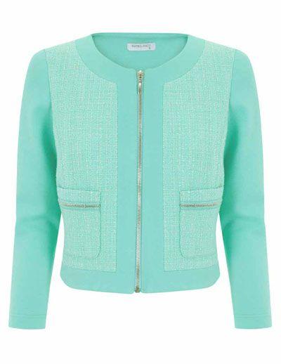 Blanco zip jacket