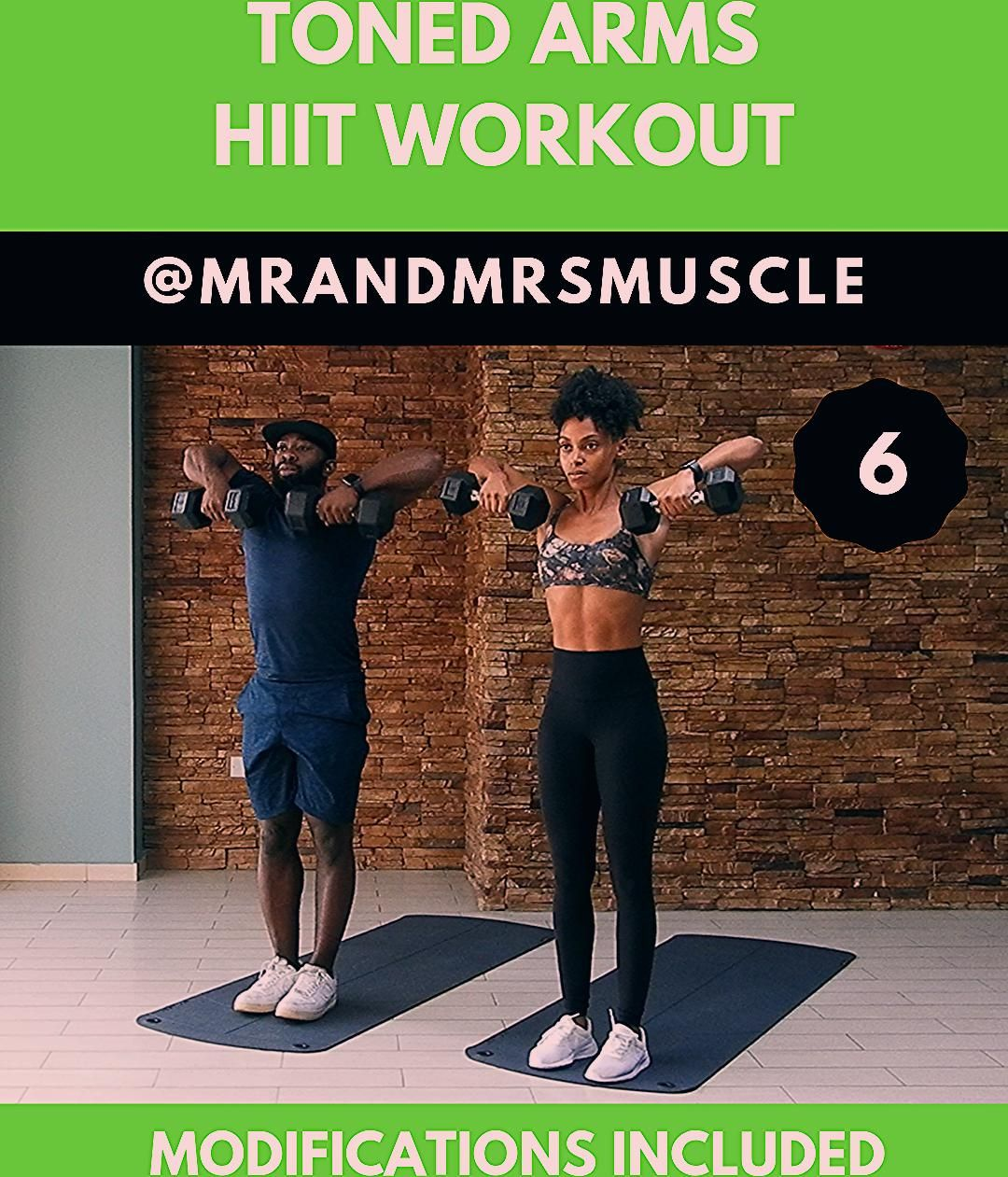 Get TONED ARMS with our Full Upper Body HIIT Workout live on our YouTube Channel with low impact mod...