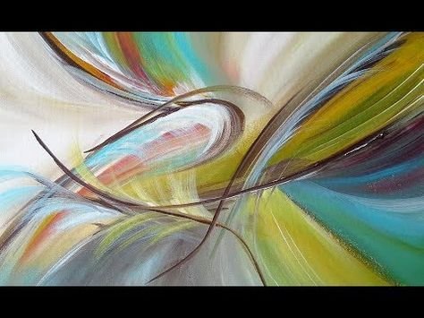 Summer whispering painting in the garden acrylic painting acryl malerei abstract