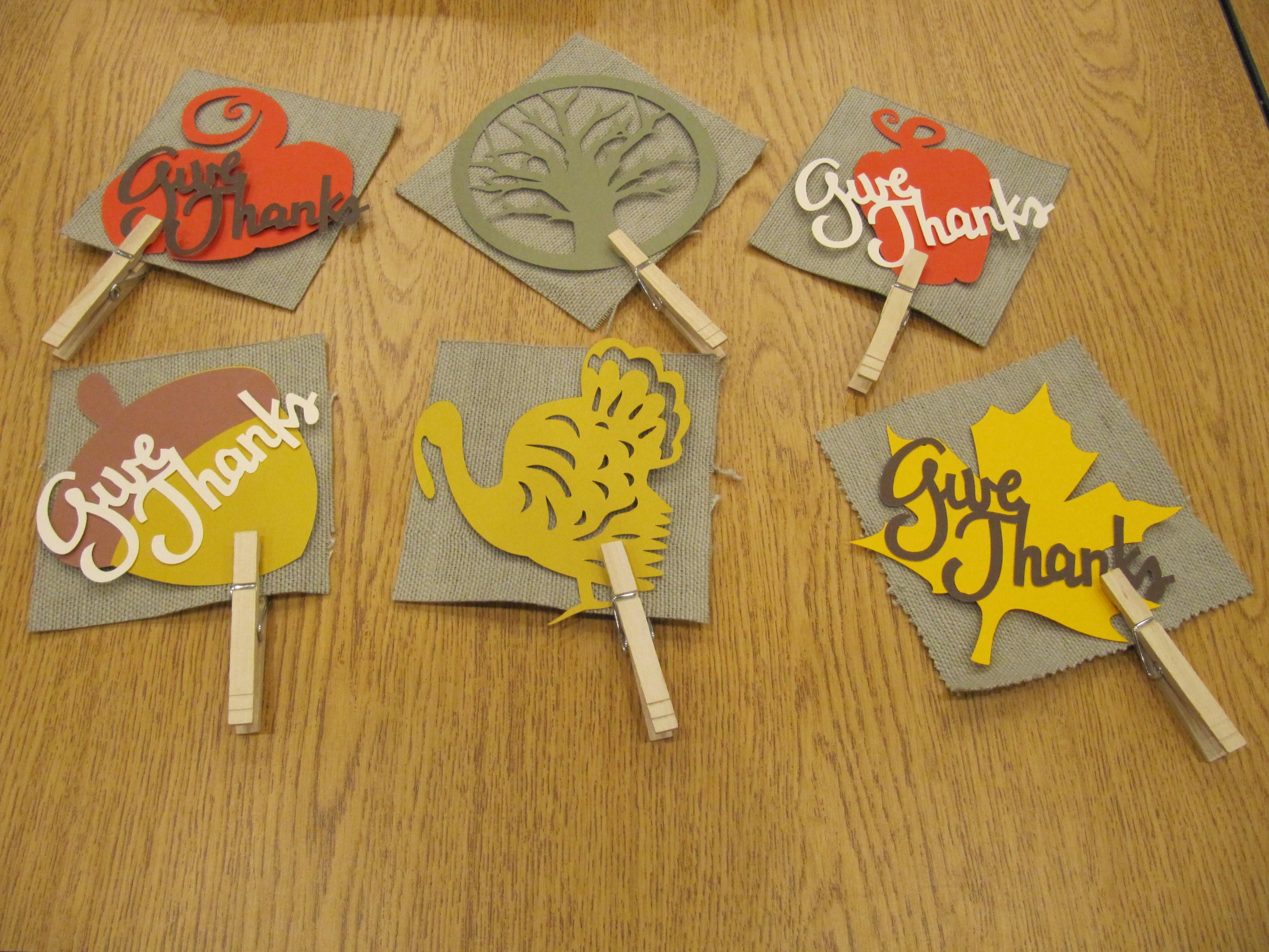 Thanksgiving Place cards made with a Die Cutter