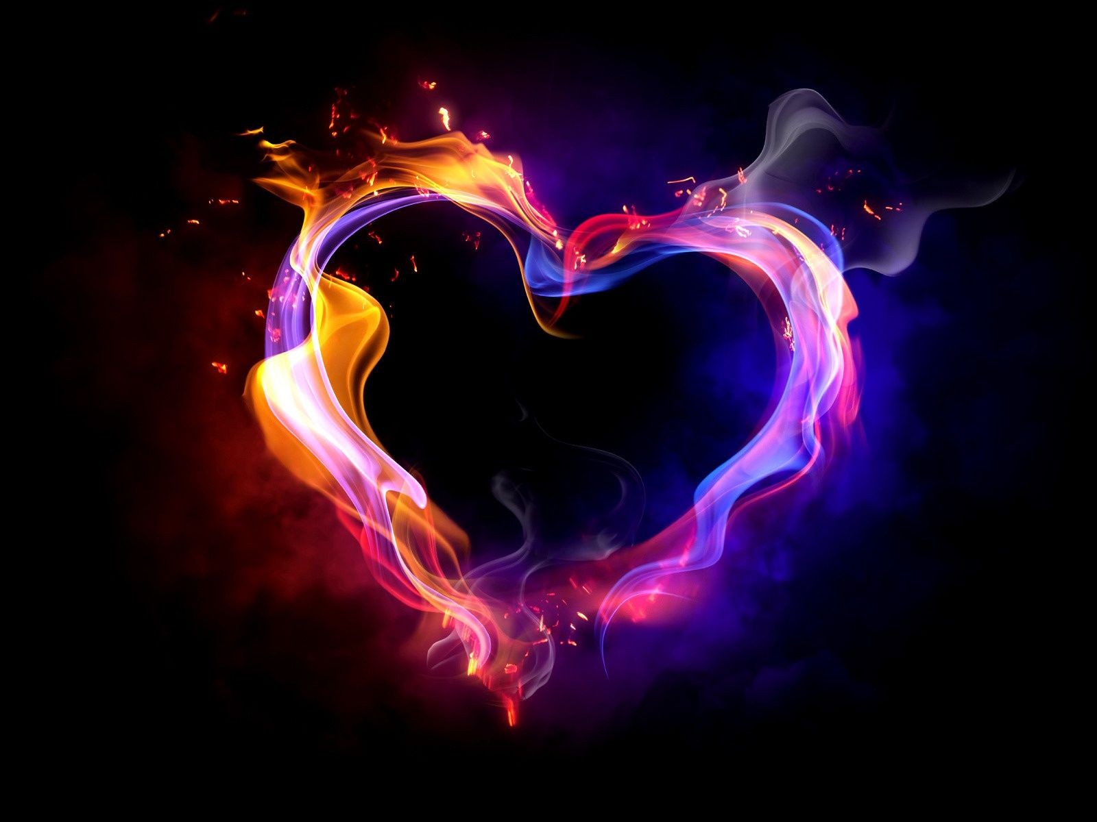 Hd Wallpaper 3d Fire Love Free 449 High Definition