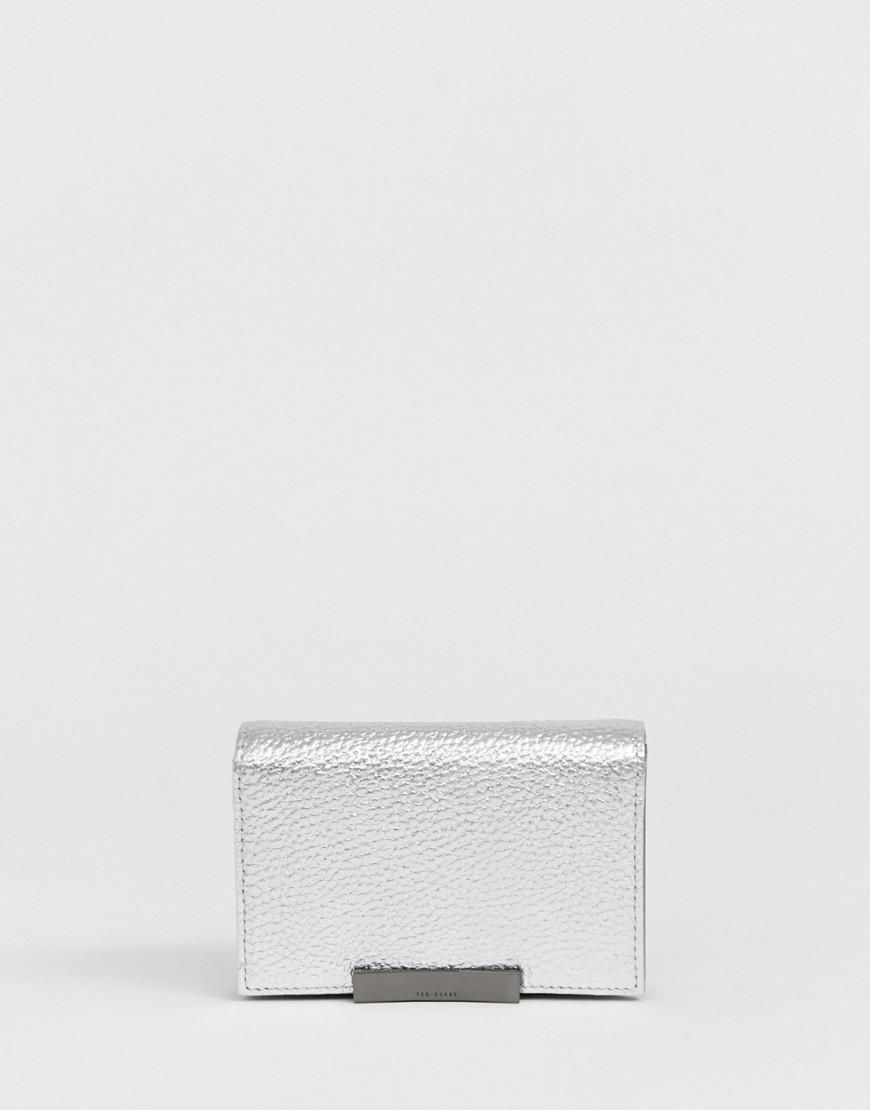 57df969ed  Valentine s Day Sale!  AdoreWe  ASOS -  Ted Baker Ted Baker Elodyy fold  over ladies  wallet with hardware - Gray - AdoreWe.com