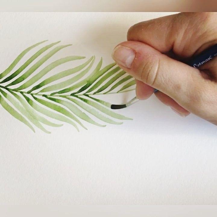 So Erstellst Du Easy Peasy Watercolor Blatter Mit Brush Pens