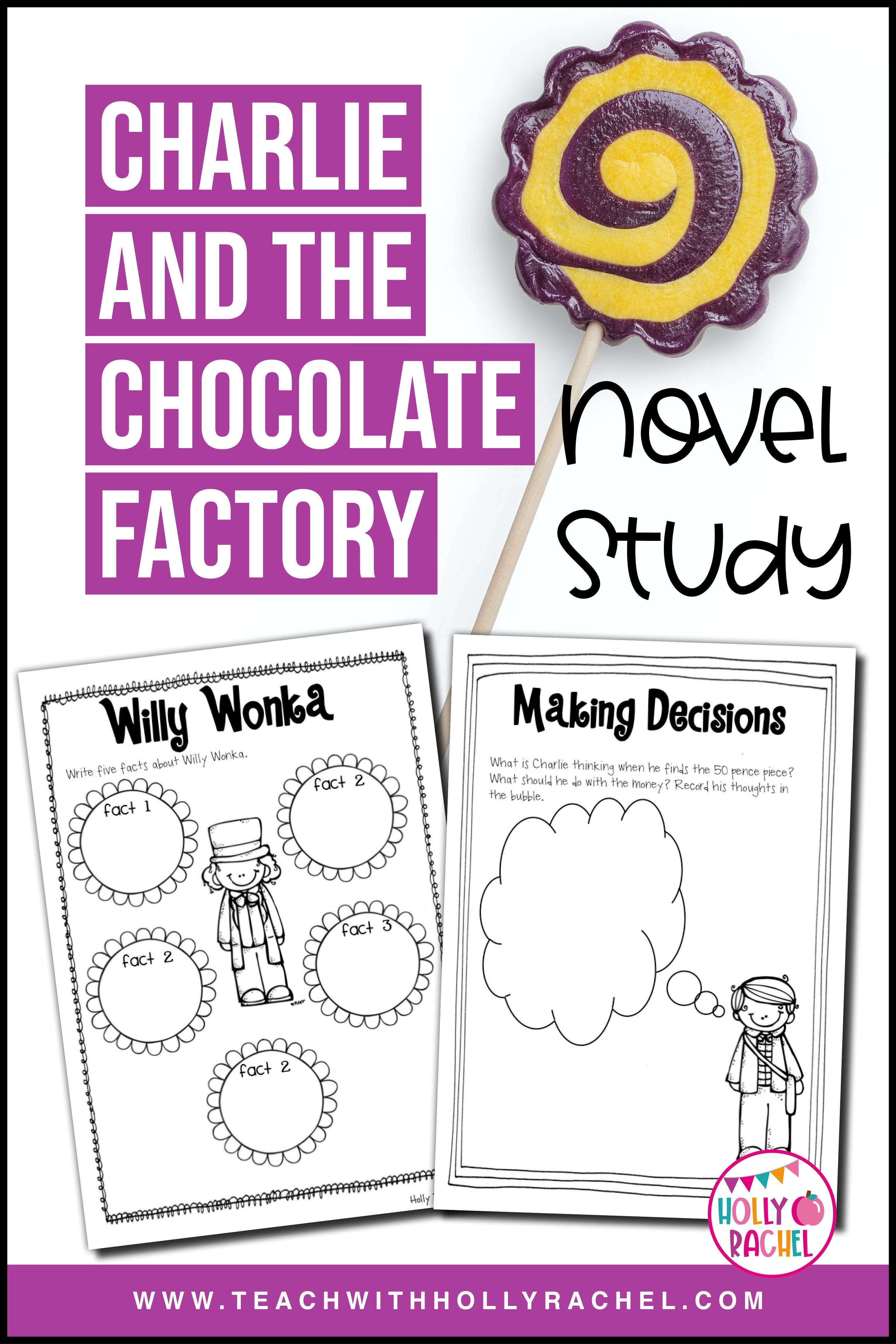 Charlie And The Chocolate Factory Novel Study In