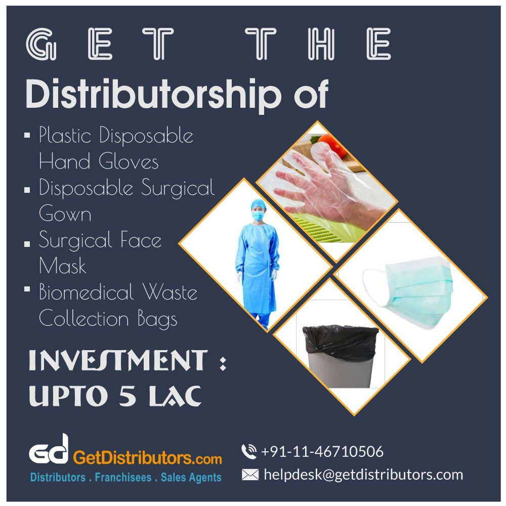 Get the distributorship of Plastic Disposable Hand Gloves