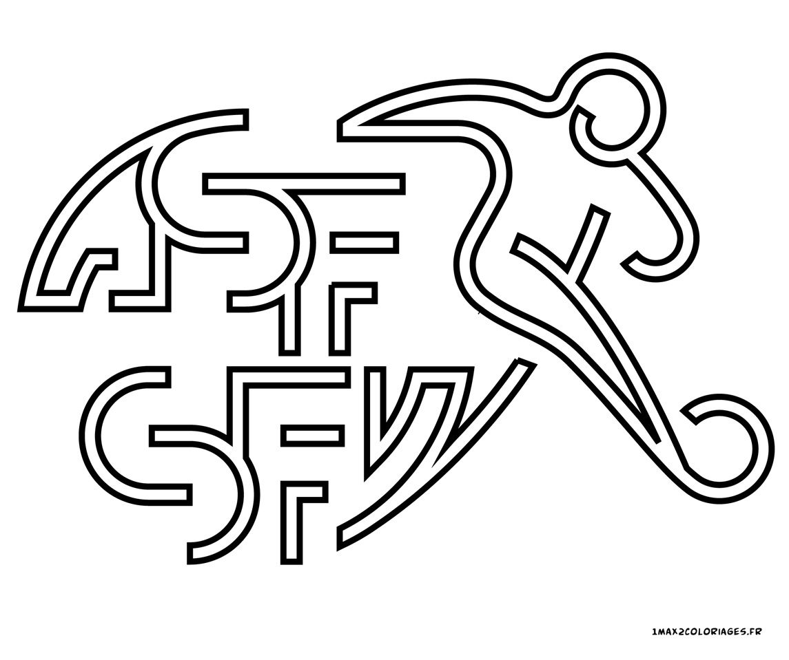 Logo football suisse euro 2016 pinterest - Coloriage ecusson ...
