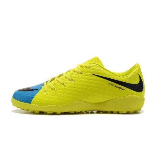 new product 4d552 f89dd Buona Nike Hypervenom Phelon III TF Uomo Donna Giallo Verde Scarpe Da Calcio