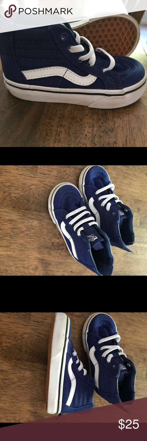 f34b7a31f7 Toddler Vans Toddler Vans off the wall hi tops zip closure on the back faux  laces on the front EUC Almost new
