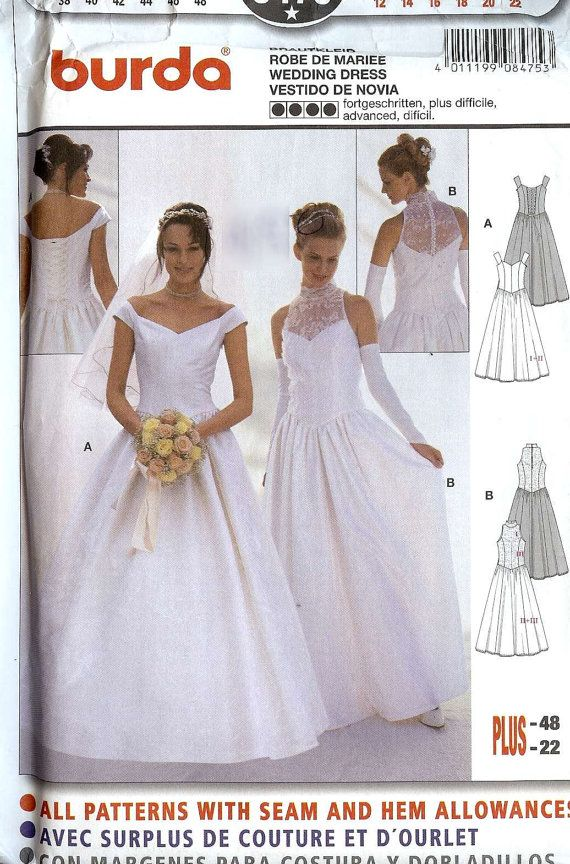 Burda 8475 Google Search Vintage Style Wedding Dresses Bridal Sewing Patterns Wedding Dress Patterns