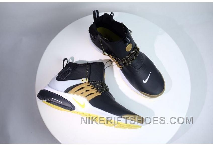 NIKE AIR PRESTO MID UTILITY Gold Men Waterproof Sneaker For Sale ... bd3d7e0bf