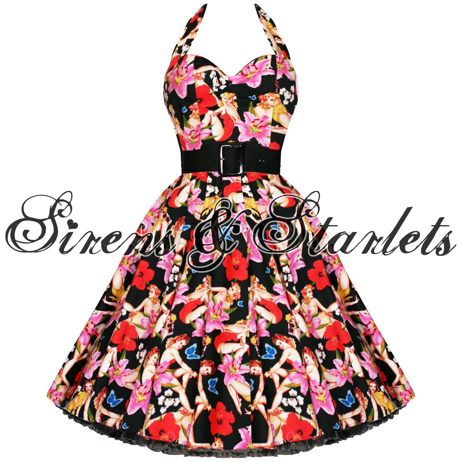 Hell bunny hawaii floral s s vtg swing prom dress i need this