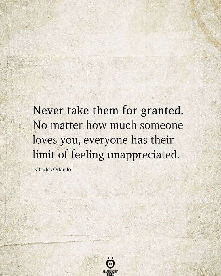Photo of Never take them for granted