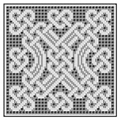 Celtic Square for Filet Crochet - 004 pattern by Devorgilla\'s ...