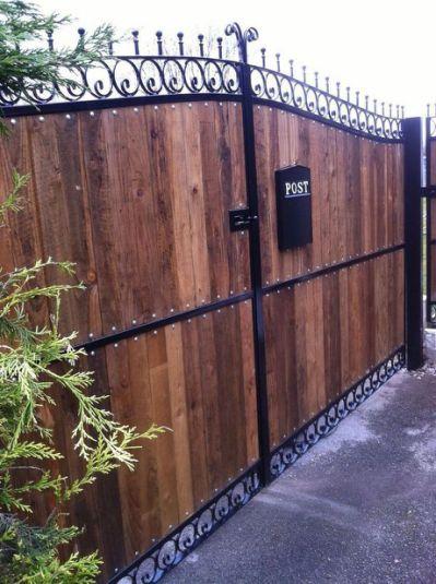 Bunny Sparse White Wooden Metal Driveway Gates Iron Garden Gates Gates And Railings