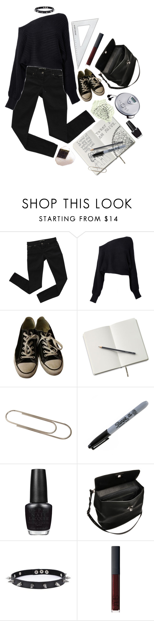 """Being fourteen and full of dreams"" by septembrie ❤ liked on Polyvore featuring Bardot, Alexander Wang, Converse, Carl Auböck, Sony, Sharpie, OPI, Marni, Trend Cool and NARS Cosmetics"