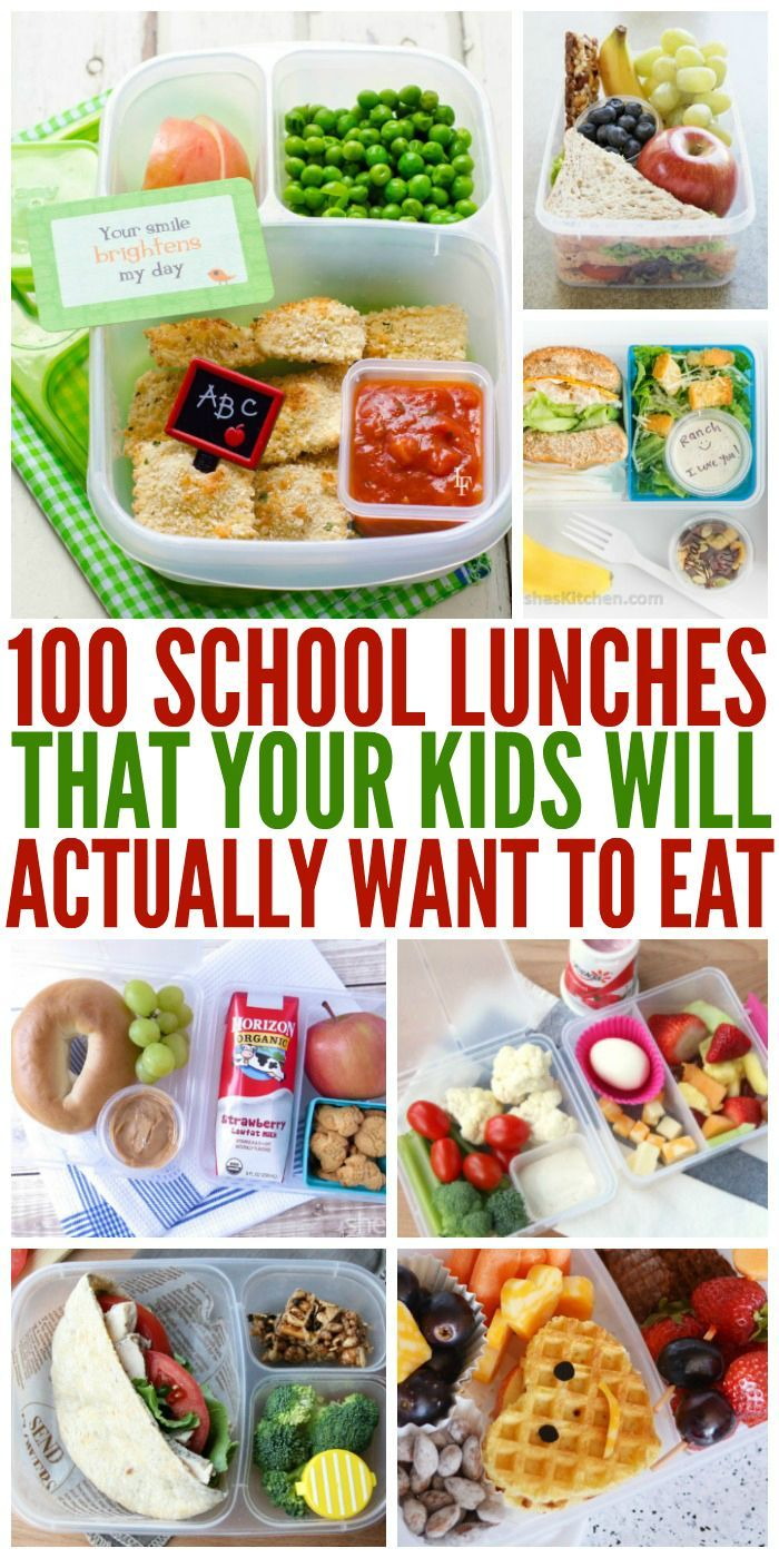 100+ school lunches ideas the kids will actually eat | 20 must