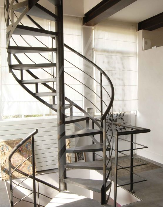 dh46 spir 39 d co caisson escalier en colima on m tal et b ton cir d coratif marches caisson. Black Bedroom Furniture Sets. Home Design Ideas