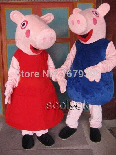 pink pig mascot costume for adult fancy dress charactor party mascot costume + Fast shipping 100 & pink pig mascot costume for adult fancy dress charactor party mascot ...