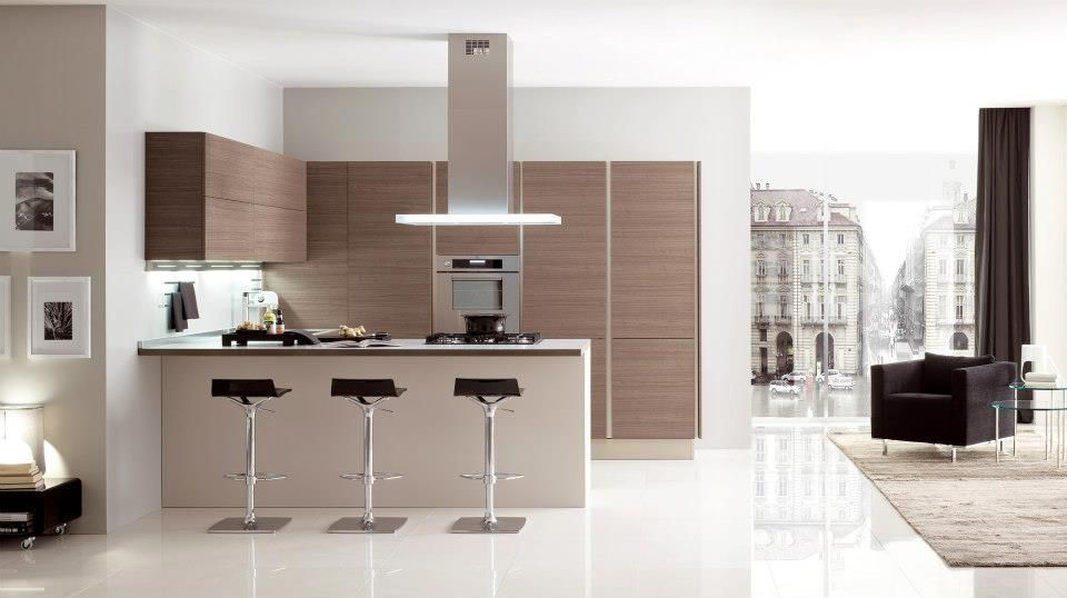 Cocina con barra americana. | Cocinas / Kitchen | Pinterest