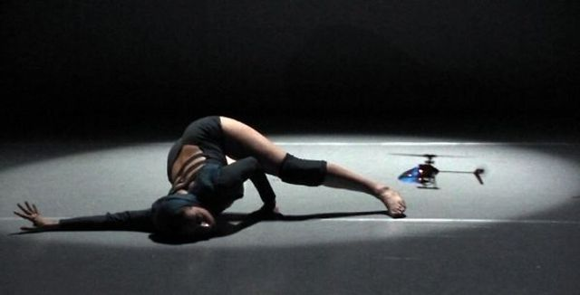 Copter - a duet between a remote controlled helicopter and a dancer, choreographed and performed by Nina Kov.