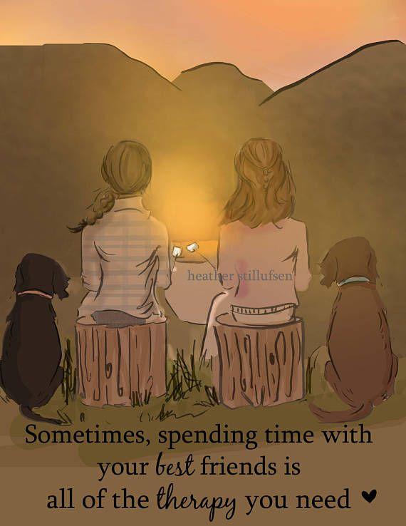 Best Friends Spending Time Cards For Friends Art For Women