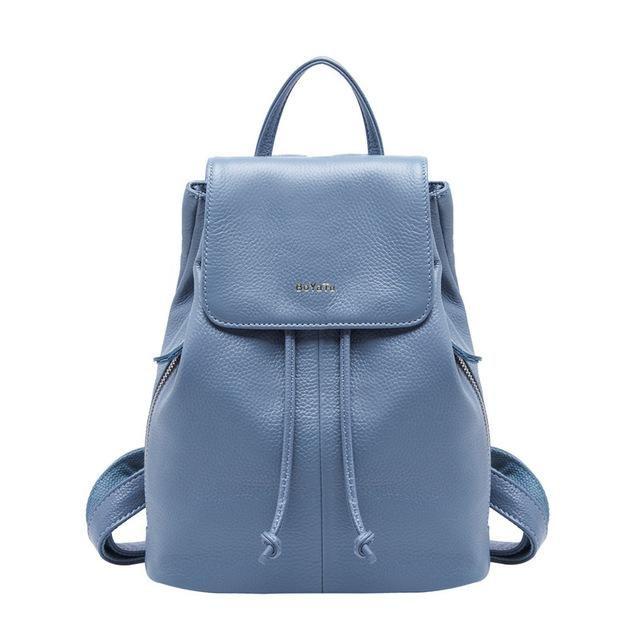 79dad674a157 Genuine Leather Feminine Backpack Female Rucksack Sac A Dos Vintage Bagpack  Simple Shoulder Bag Women Daypack