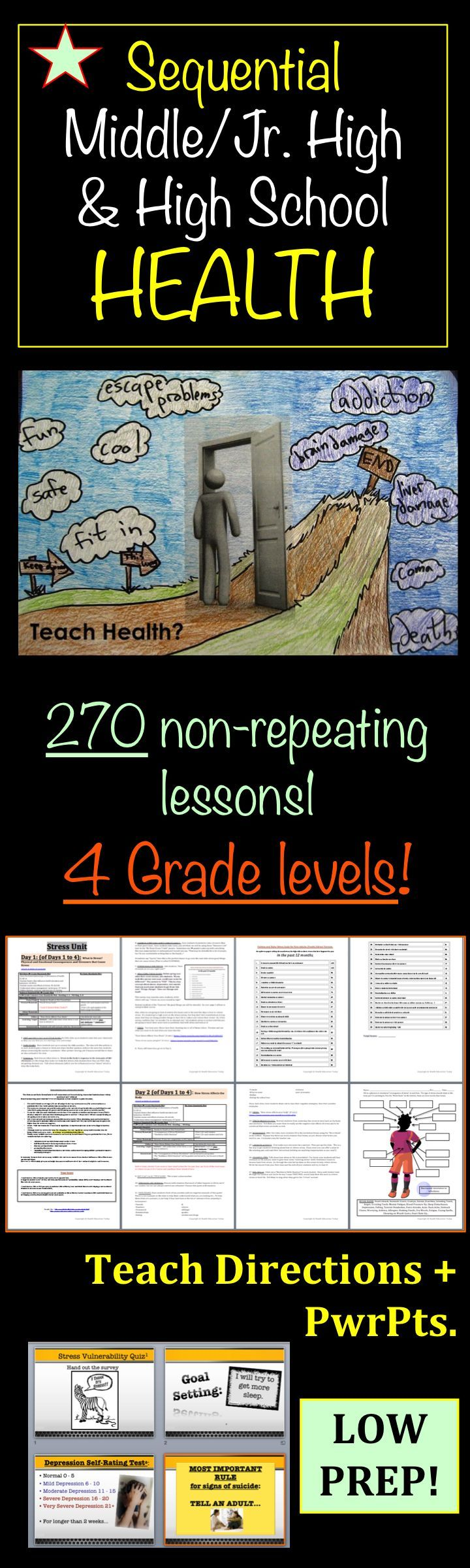 Middle/Jr. High AND High School Sequential Health