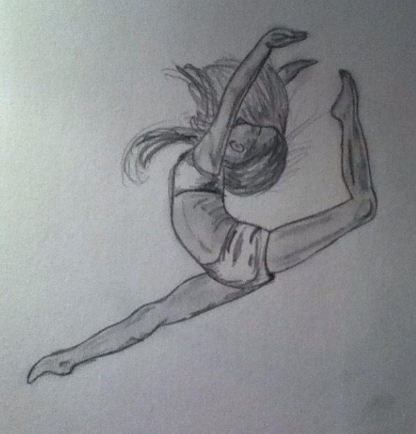 Zeichnung einer Tänzerin 4 - #ZeichnungenBleistiftdisney #ZeichnungenBleistifte #pencildrawings