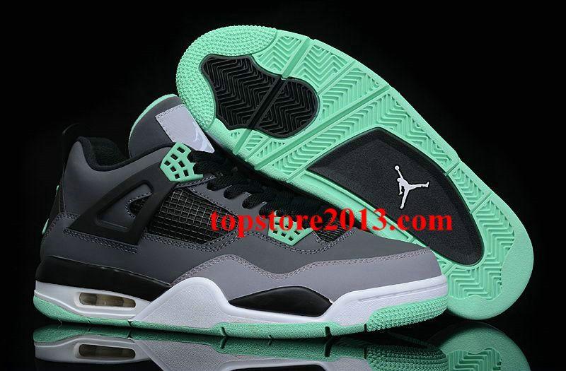 dd3c885a171a 2013 Air Jordan 4 Womens Green Glow Basketball Shoes For Sale ...