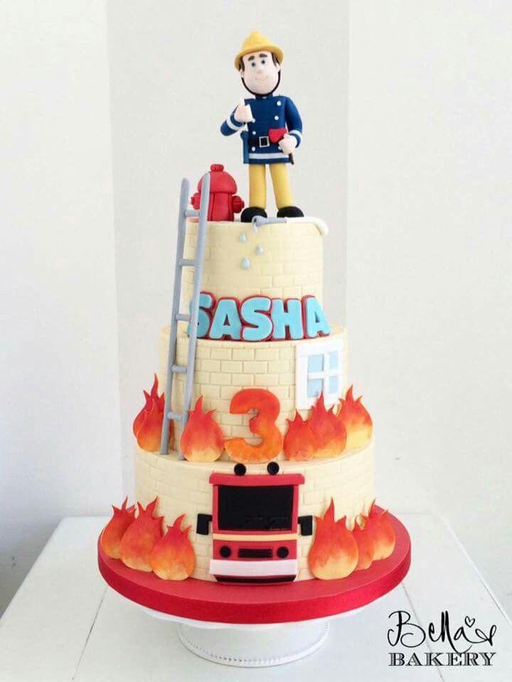 Fireman Sam Birthday Cake Birthday Cakes Pinterest Fireman Sam