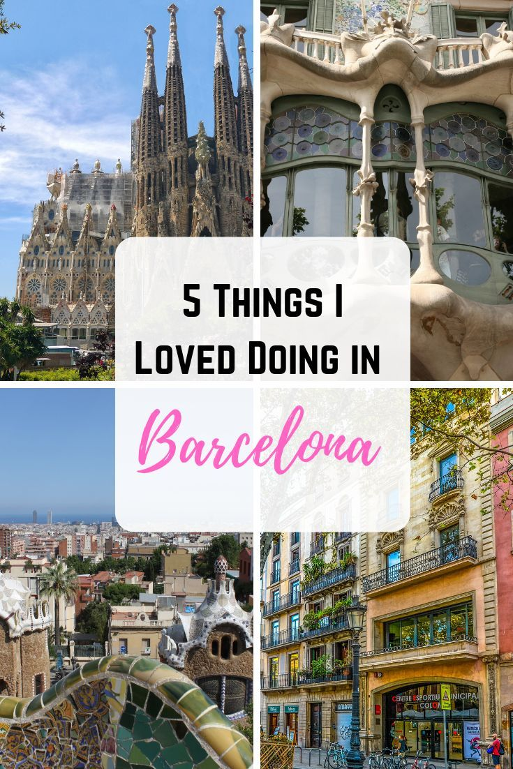 Planning a trip to Barcelona? Unsure of what to do in this culturally rich city? Here are 5 things that I loved doing in Barcelona!   #barcelona #spain #thingstodo #travelguide #travel #wanderlust #traveltips
