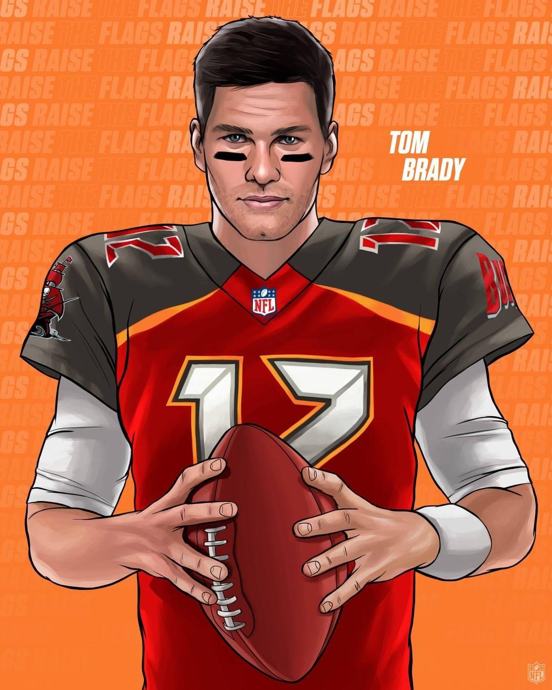 Nfl On Instagram Tom Brady Qb Of The Buccaneers In 2020 Nfl Football Art Nfl Nfl Football Players