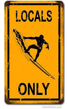 Surf Signs Decor Beauteous Locals Only Surfing Distressed Metal Beach Sign  Surf Beach And Inspiration Design
