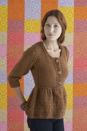 Free Knitting Pattern 80347ad Peplum Cardigan Lion Brand Yarn
